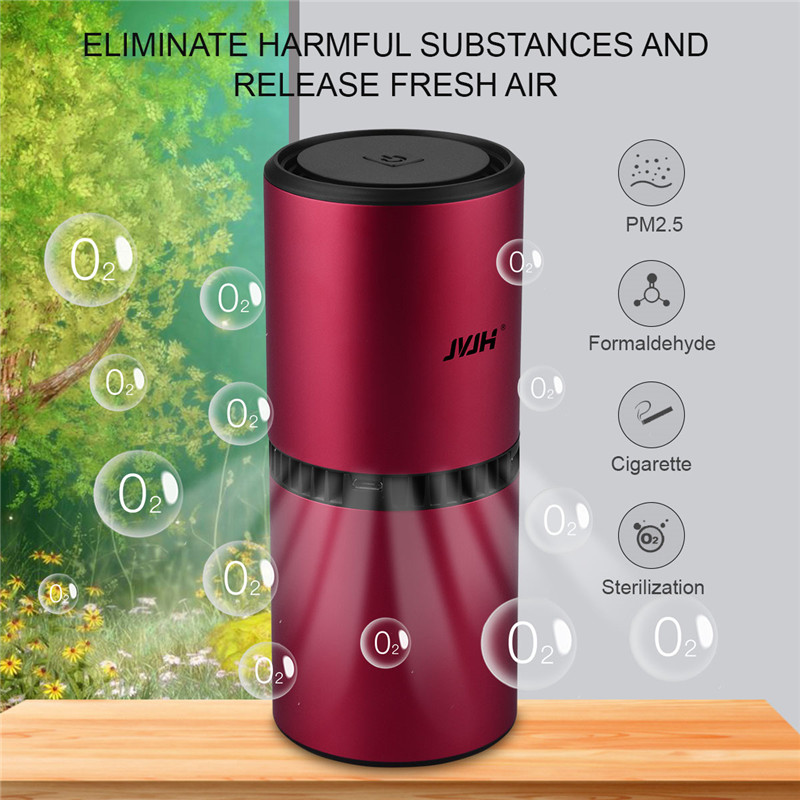 USB Rechargeable Diffuser Ozone Air Purifier Car Deodorization Air Ionizer Ozone Generator  Air Cleaner Freshener Home Office