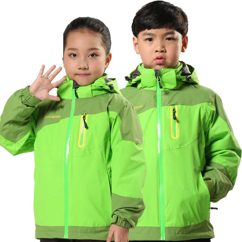 Zhuhaitf Boy Girl Unisex 3-in-1 Warm Zipped Coat Child Outdoor Waterproof Jacket