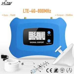 Image 1 - Hot! 4G LTE 800MHz mobilny wzmacniacz sygnału 4g telefon komórkowy wzmacniacz 4G komórkowy regenerator sygnału z antena Yagi + antena sufitowa zestaw