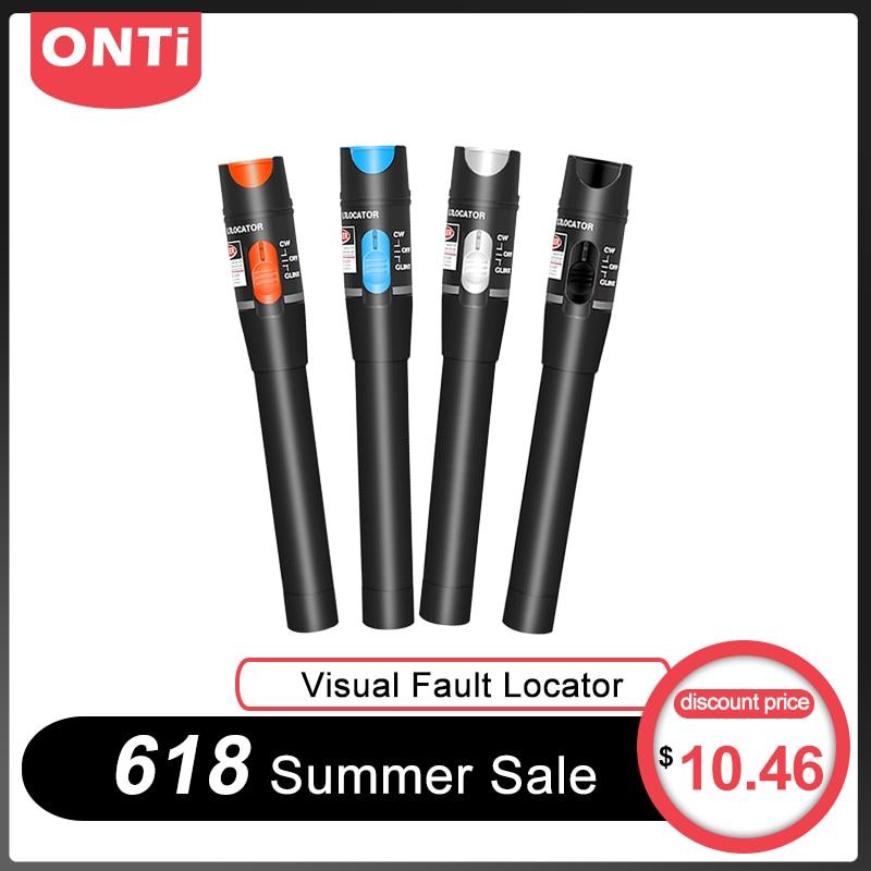 ONTi 10mW Visual Fault Locator Fiber Optic Cable Tester 30mw Red Laser Light 5 30KM Pen Type Visual Fault Locator SC/FC/STFiber Optic Equipments   - AliExpress