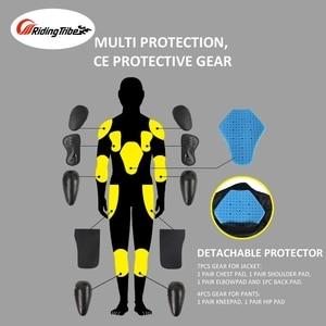 Image 5 - קיץ חורף אופנוע מעיל מכנסיים מקצועי חליפת רכיבת מגן מעיל מכנסיים רוכב בטיחות בגדי JK 40
