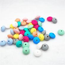 Chengkai 100 шт 12*7 мм силиконовые бусины для прорезывателя