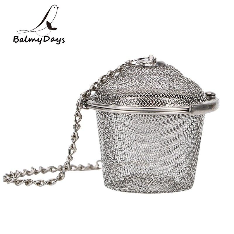 Stainless Steel Tea Strainer Locking Tea Infuser Filter Mesh Tea Ball Seasoning Herb Spices Ball Strainer Kitchen Accessories