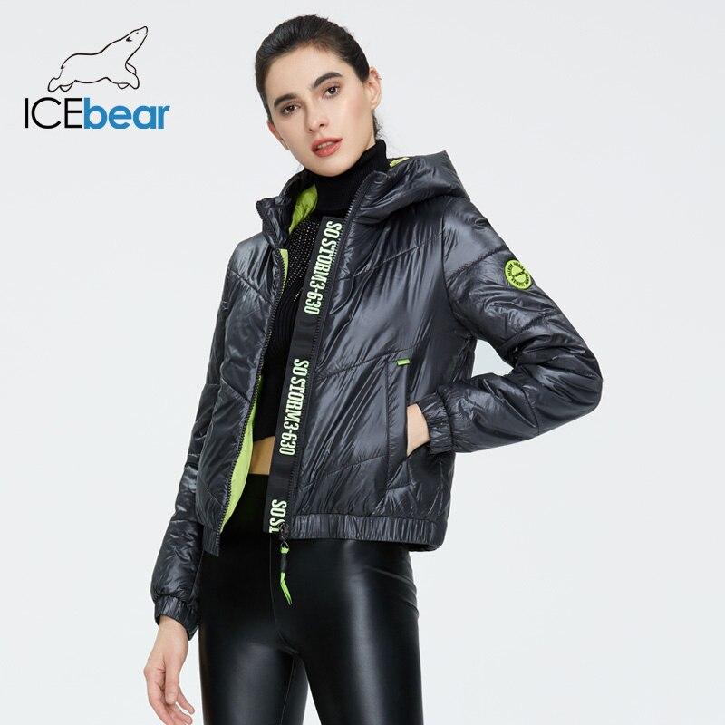 ICEbear 2020 Women Spring Jacket Fashion Women Coat High Quality Hooded Brand Clothing GWC20067I