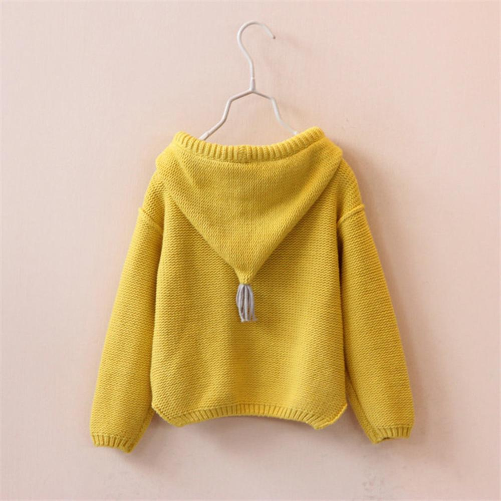 Image 3 - Kids Sweater Girls Boys Hooded Knit Crochet Long Sleeve Sweater Autumn Fashion Solid Tops Clothes Outfits For 2 6T ChildrenSweaters   -
