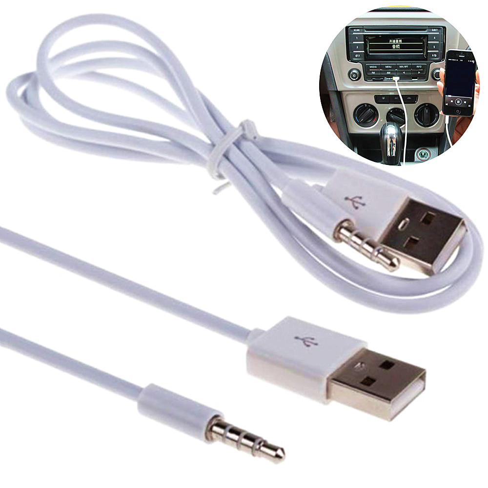 Samochód AUX telefon samochodowy kabel audio USB 3.5MM kabel audio akcesoria do wnętrz samochodowych
