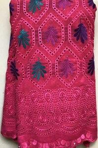 Image 4 - Encaje de gasa suizo con diseño de algodón puro en Suiza con piedras, tela de encaje seco africano, tela nigeriana de alta calidad para boda HLL4570