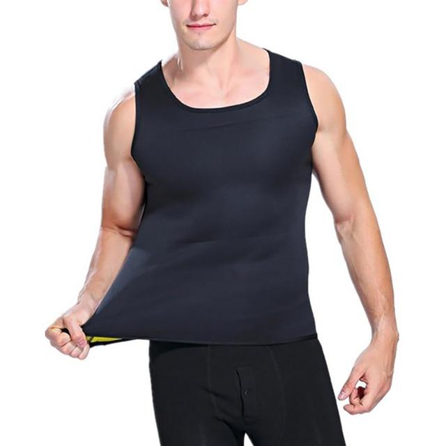 YBFDO Men's Hot Sweat Body Shaper Slimming Belt Belly Men Slimming Vest Fat Burning Shaperwear Waist Sweat Corset Tummy Fat Burn 2