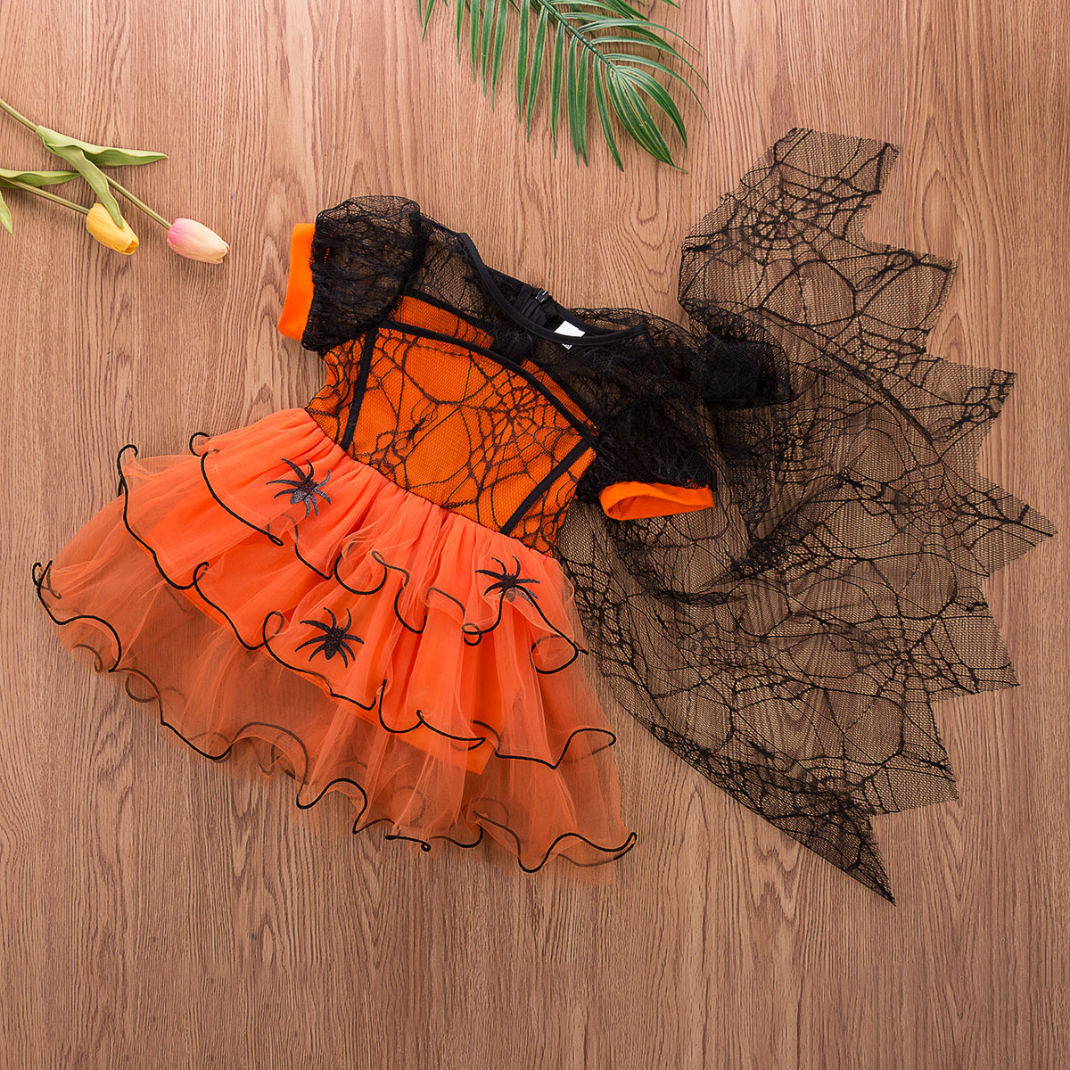 Witch Costume Girls Halloween Party Kids Deluxe Wizard Queen Fancy Dress