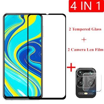 2 pcs para xiaomi redmi note 9 s vidro temperado vidro para xiaomi redmi note 8 7 pro 8 t 7a 8a protetor de tela cola filme lente da câmera