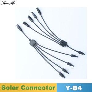5 пар Y Тип 4 в 1 Мужской и Женский Солнечный Кабель соединитель IP67 M/F и F/M для солнечных панелей кабель 4mm2/6mm2 PowMr