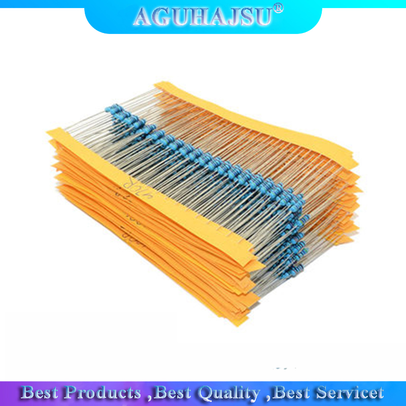 1 Pack 300Pcs 10 -1M Ohm 1/4w Resistance 1% Metal Film Resistor Resistance Assortment Kit Set 30 Kinds Each 10pcs