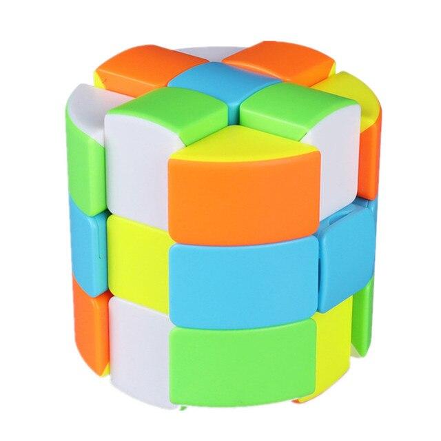 Qiyi Barrel Cube 3x3x3 Stickerless Strange-Shape Magic Cube Twisty Mgaic Cube Learning&Educational Puzzle Toys 3