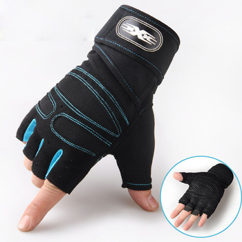 Heavyweight  Exercises Half Finger Weight Lifting Gloves Body Building Training Sport Gym Fitness Gloves For Men Women M/L/XL 6