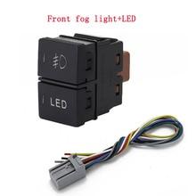 1pc Dual key switch dual switch fog lights radar power supply LED Headlight Switch Button for Honda CITY 15 19