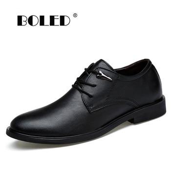 цена British Style Men Leather Shoes Fashion Flats For Man Business Oxfords Shoes Plus Size Men Footwear Wedding Dress Shoes онлайн в 2017 году