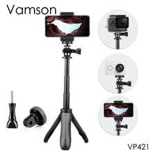 Vamson تمديد مقبض ترايبود جيب القطب Selfie عصا صغيرة ل Gopro بطل 8 7 6 5 للهاتف المحمول ل شاومي يي VP421