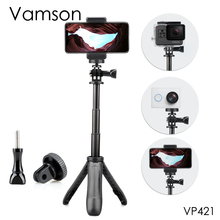 Vamson Uitschuifbare Handvat Statief Pocket Pole Mini Selfie Stick voor Gopro Hero 8 7 6 5 voor Mobiele telefoon voor xiaomi yi VP421
