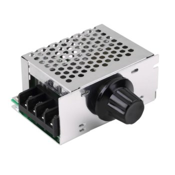 New 4000W AC 220V SCR Adjustable Motor Speed Controller Control Dimming Dimmers Voltage Regulator Thermostat Import High-power 2000w scr voltage regulator dimming dimmers motor speed controller thermostat electronic voltage regulator module