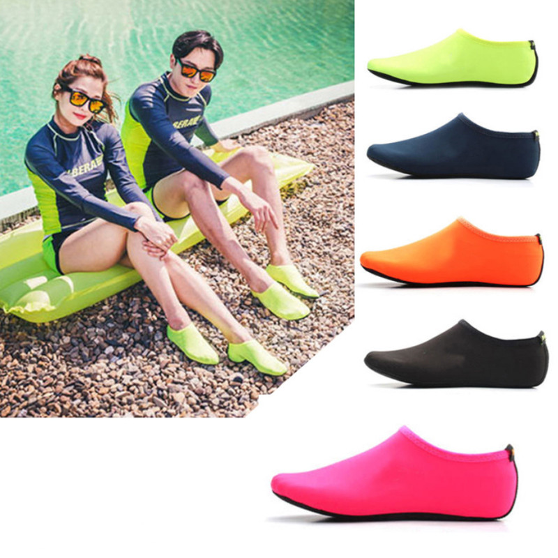 Men Women Water Shoes Swimming Shoes Solid Color Summer  Beach Shoes Seaside Sneaker Socks Slippers For Men