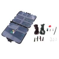250Pcs Fishing Accessories Kit Jig Hooks Bass Casting Sinker Weights Swivels Fishing Tackles Box|Fishing Tackle Boxes|   -