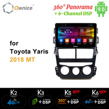 Ownice Android 9.0 Octa Core K3 K5 K6 Auto Dvd-speler Voor Toyota Yaris 2018 Mt/At Auto Radio gps 4G Lte 360 Panorama Dsp Spdif(China)