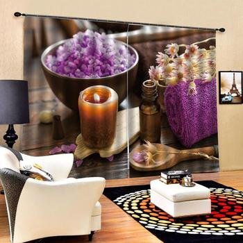 personality curtains  Customized size Luxury Blackout 3D Window Curtains For Living Room purple curtains