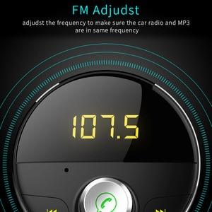 Image 5 - JaJaBor Bluetooth AUX Handsfree Car Kit 3.5mm Jack AUX Audio MP3 Player Wireless FM Transmitter Auto Music Receiver Car Charger