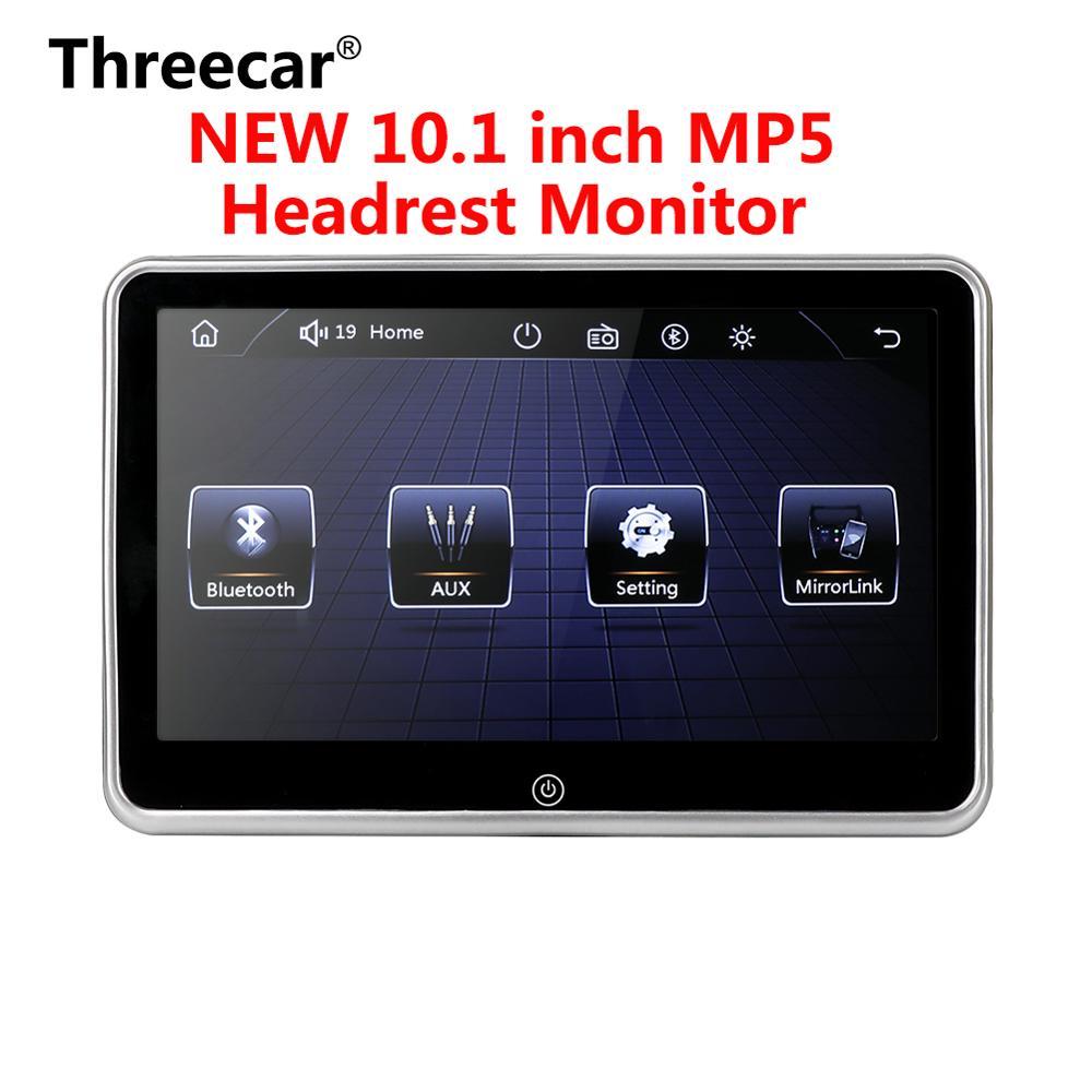 Monitor de encosto de cabeça ultra-fino de 10 polegadas, monitor mp5 player, conexão para espelho android, fm hd 1080p, tela de vídeo com reprodutor multimídia usb/sd