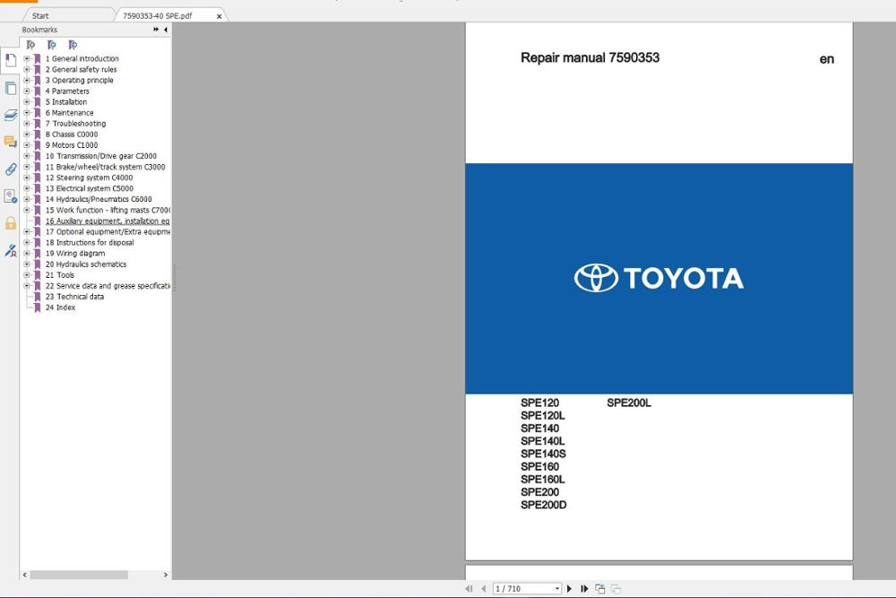 BT And For Toyota Forklift Service Part And Operator Manual 2019