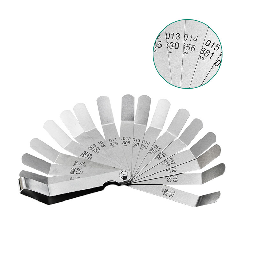 16 Blades Measurement Tool Stainless Steel Curved High  Railway Feeler Manufacturing Durable  Filler Metric Imperial