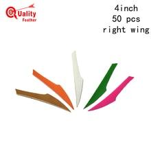 JINYUQI  King Turkey Feather 50pcs 4 Arrow archery Cut Fletching Hunting Shooting Diy Accessories