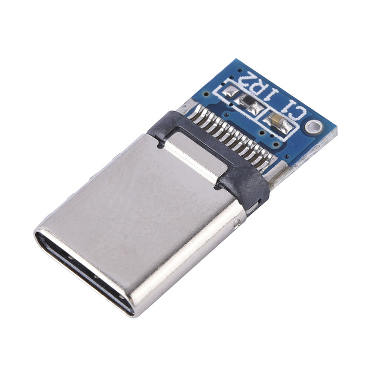 10pcs/Lot USB 3.1 Type C <font><b>Connector</b></font> 12PIN Fast Charging Male Socket Receptacle Adapter To Solder Wire & Cable PCB Board Module image