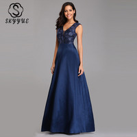 Skyyue Sleeveless Seqauin Evening Dress Women Party Dresses 2019 Plus Size Sexy Hollow Robe De Soiree Formal Evening Gowns C549
