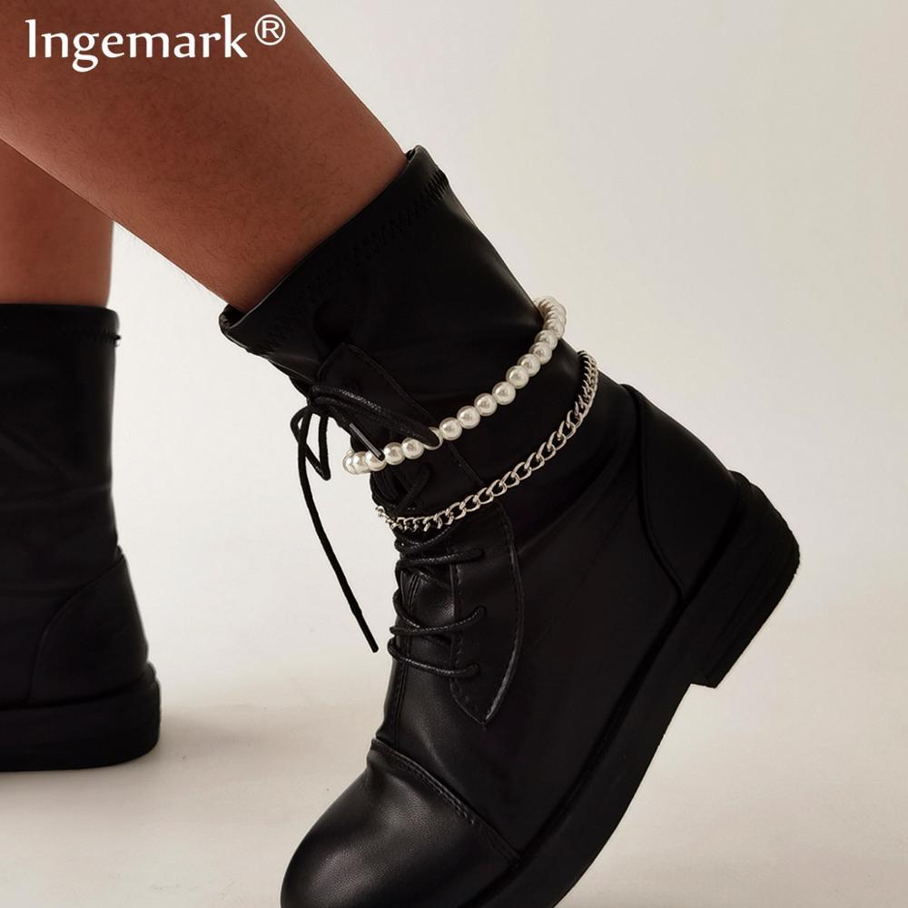 Bohemian White Color Adjustable Anklets for Women Beaded Pearl Barefoot Summer Ocean Beach Ankle Bracelet Foot Leg Jewelry 2021