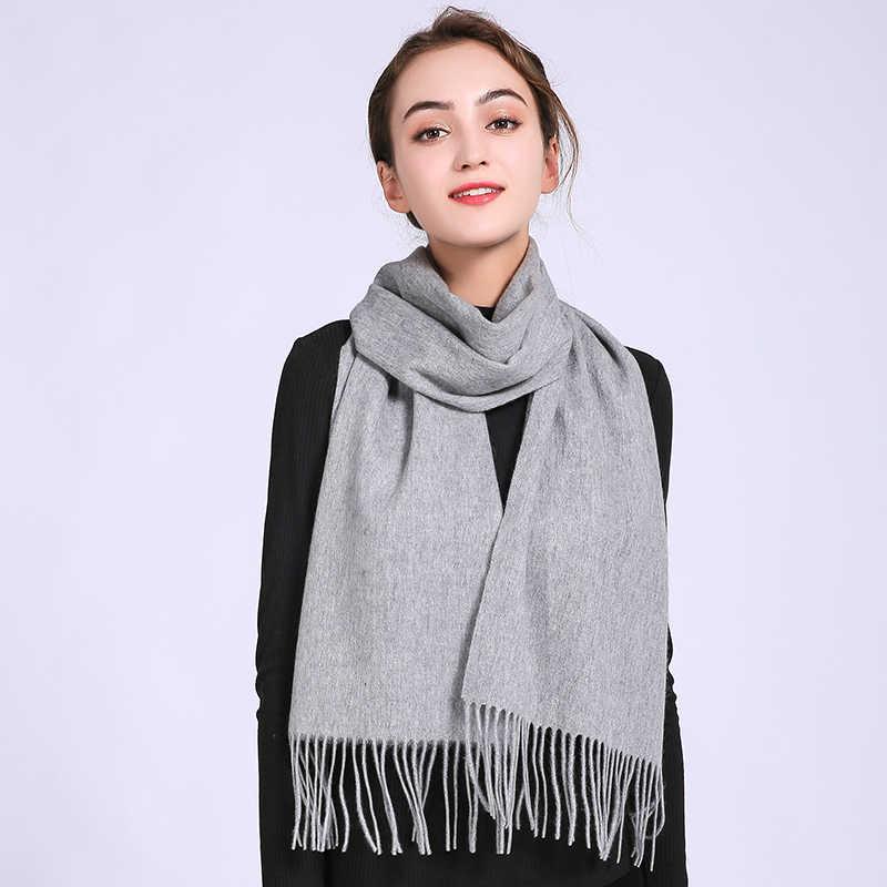 冬のカシミヤスカーフの女性のブランド女性のための固体カシミヤラップベージュ Pashimina ファッション暖かいスカーフウールスカーフファムショール