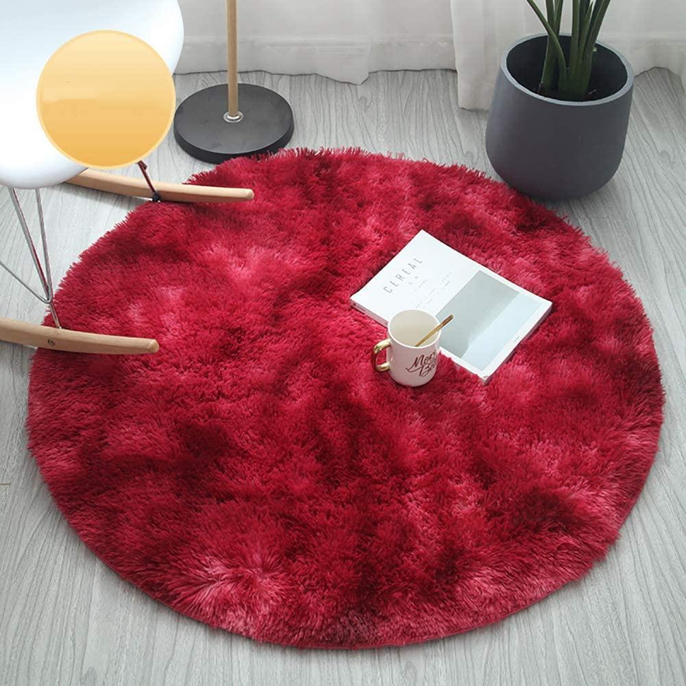 Bedroom Rug Area-Rug Room-Carpet Playing Round Fluffy Circle Nursery Soft Kids Shaggy