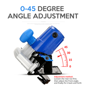 Image 5 - Electric Woodworking Circular Saw 1500W 7 inch 60mm Multi function Cutting Machine Household Small Flip Saw Circular