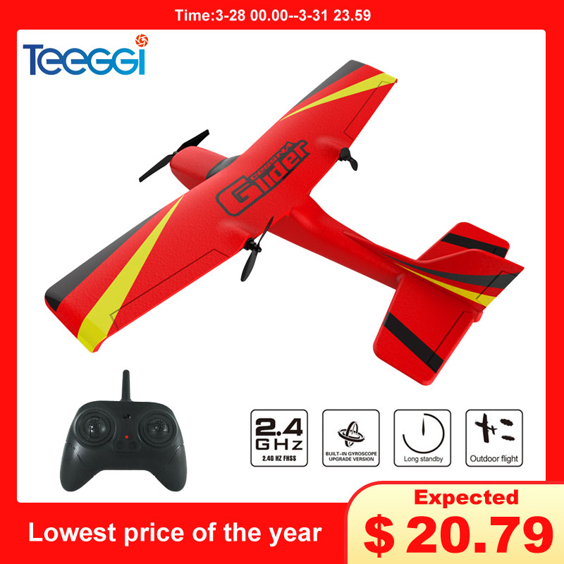 Z50 RC Plane EPP Foam Glider Airplane Gyro 2.4G 2CH Remote Control Wingspan 25 Minutes Flight Time RC Airplanes Toy