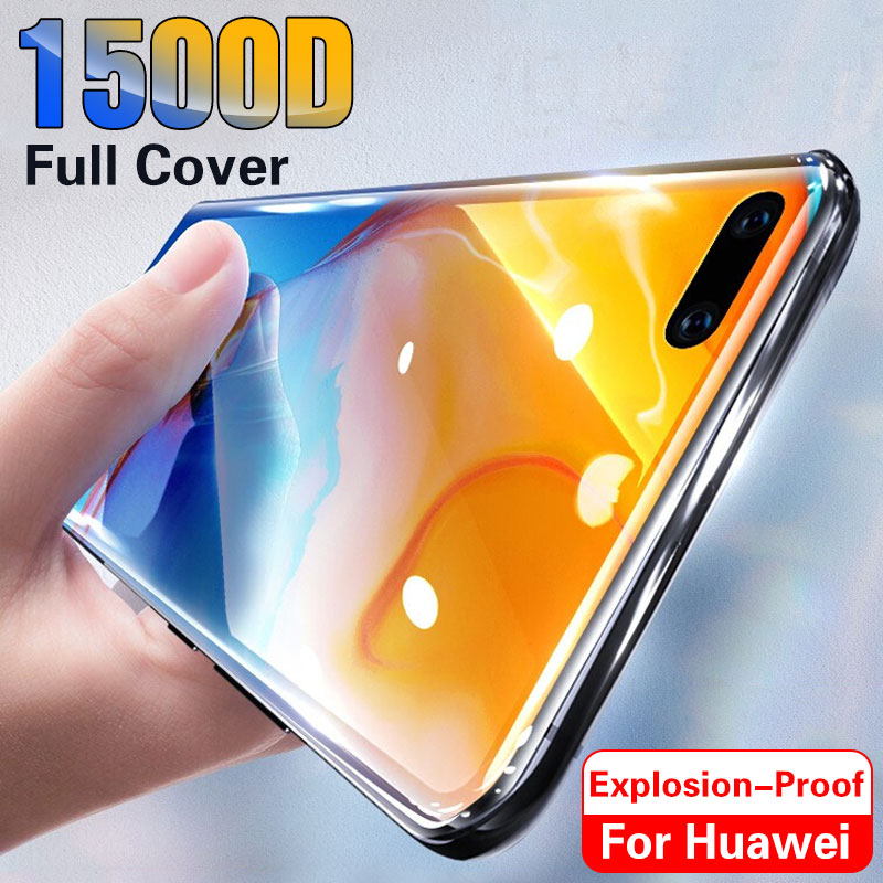 1500D Tempered Glass For Huawei P40 Pro P30 P20 Lite P Smart 2019 Screen Protector Protective For Huawei Honor 20 Lite P40 Film