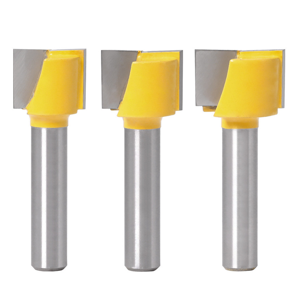 16-25mm Router Bit 8mm Shank Surface Planing Bottom Cleaning Wood Milling Router Bit For CNC Woodworking Tool