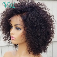 Kinky Curly Wig Deep Curly Lace Front Wig Afro KInky Curly Hair Short Curly Human Hair Wig 150% Density Human Hair Bob Wigs