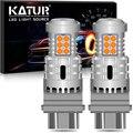 2Pcs T25 3157 P27/7W No Hyper Flash Py21w P21W BA15S LED Auto Turn Signal Light T20 7443 W21/5W error free Led Bulb Amber Yellow