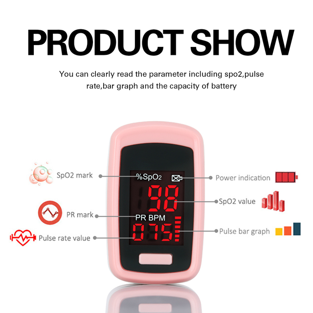 OLIECO Accurate Finger Pulse Oximeter De Dedo Pulso Oximetro Blood Oxygen Saturation SpO2 PR Meter Home family Pulse Oxymeter 3