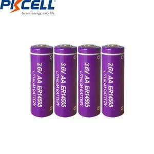 Image 2 - 6 LiSCLO2 ER14505 pçs/lote PKCELL 3.6V 14505 2400mah AA Bateria Superior LR6 R6P 1.5V Baterias Para Câmeras de Rastreamento GPS