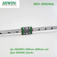 1pc Original Hiwin schiene MGNR9 -L 100 200 250 300 330 400 450 500 550 600mm schiene + 2 stücke MGN9C Lineare block Wagen