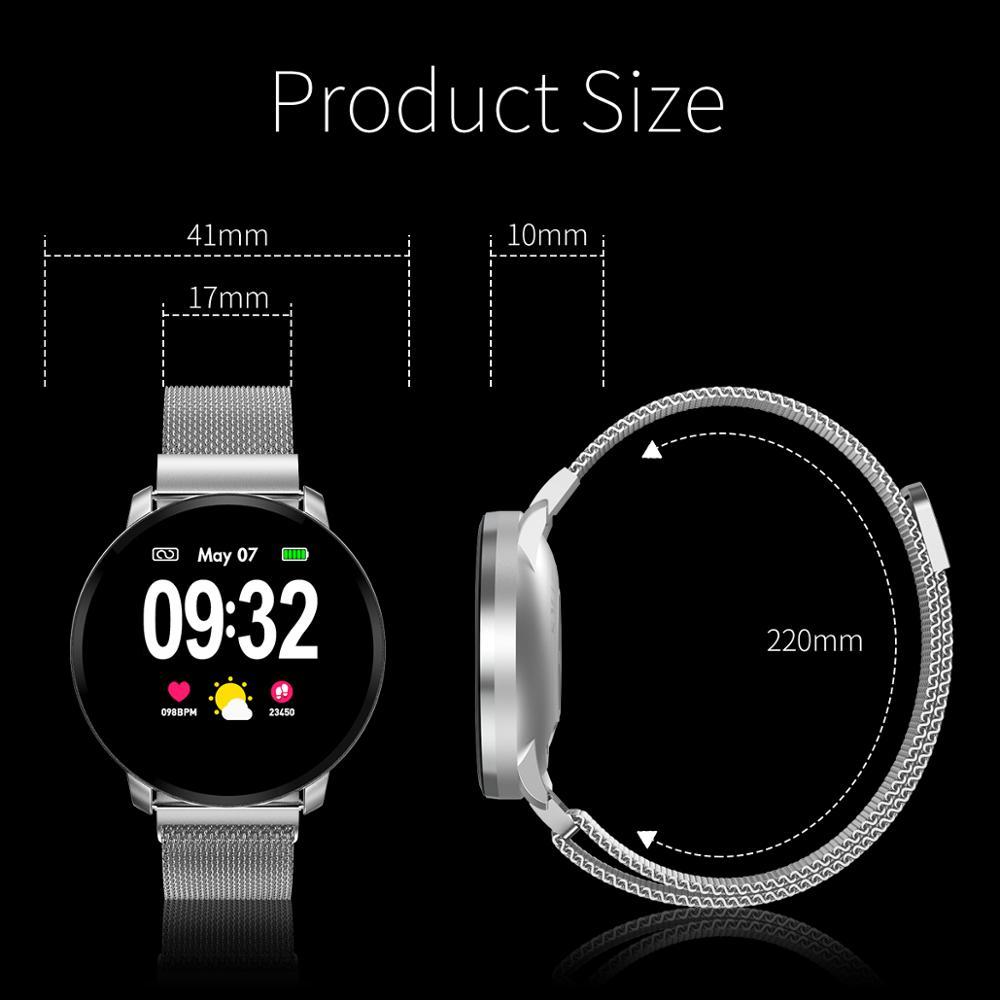 Cobrafly CF68 Women Smart Watch Full Touch Screen IP67 Waterproof Heart Rate Blood Pressure Fitness Tracker Sport Men Smartwatch in Smart Watches from Consumer Electronics