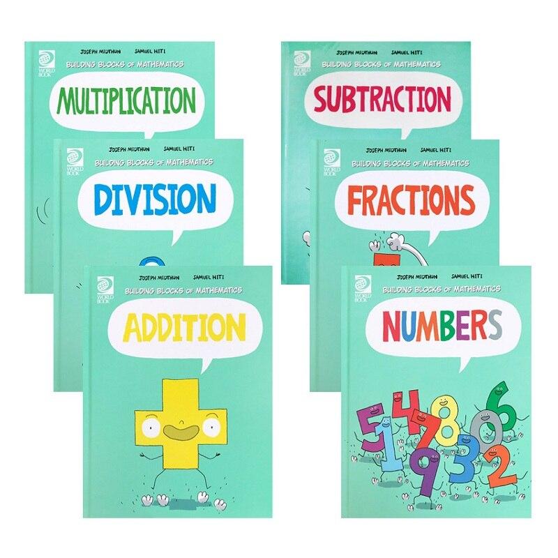 6 Books/Set Building Blocks of Mathematics Learning Maths Collection Book Children Comic Math Enlightenment Books