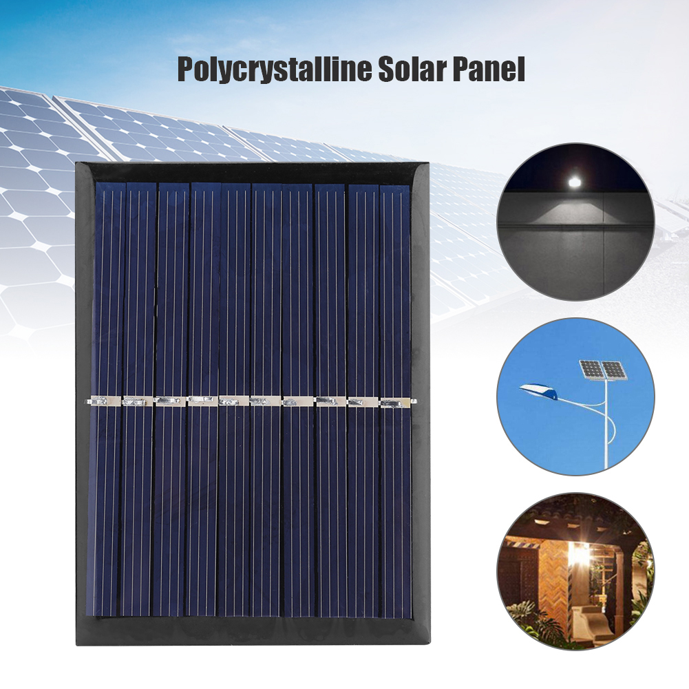 Polycrystalline Solar Panel 0.7W 5V RechargingFence Landscape Solar Charger Automatically for 3.7V Battery 3.5x2.6 inch