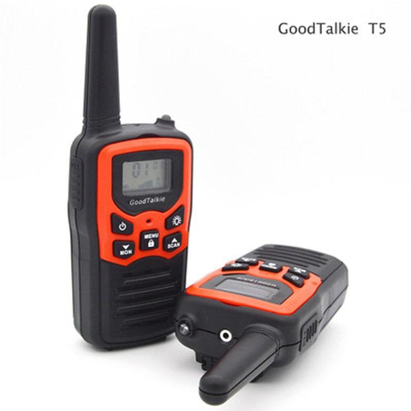2PCS GoodTalkie T5 Walkie talkie Holding outdoor Civil High power walkie talkie 22 Shindo 400-470MHz 0.5Maximum distance 10 km